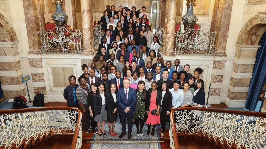 2017/18 Fellows at Iveagh House with Minister Cannon
