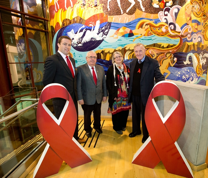 Attendees at World Aid Day event in Limerick